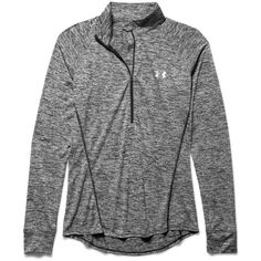 Under Armour Women's Twist Tech 1/2 Zip Top ($45) ❤ liked on Polyvore featuring activewear, activewear tops, jackets, tail activewear, under armour sportswear and under armour