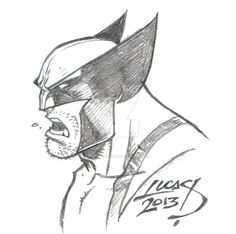 If I had a nickel for every time I drew Wolverine. Superhero Sketches, Drawing Superheroes, Drawing Cartoon Characters, Marvel Drawings, Character Drawing, Cartoon Drawings, Cartoon Art, Batman Drawing, Comic Drawing