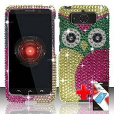 Motorola Droid Mini XT1030 (Verizon) 2 Piece Snap On Rhinestone/Diamond/Bling Case Cover, Pink/Green/Gold Cute Cartoon Owl Design  http://www.amazon.com/dp/B00GPBLJJO/ref=cm_sw_r_pi_dp_nZd2sb1CD1S1462N