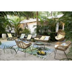 Do our patios have a crush on exotic style? Exotic welcoming and inviting: this VANUATU Garden Bench joins our summer must-haves. Outdoor Sofa, Outdoor Carpet, Outdoor Cushions, Outdoor Spaces, Outdoor Living, Outdoor Decor, Vanuatu, Garden Furniture, Outdoor Furniture Sets