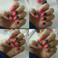 Favorite nail design. Step by step guide using dotting tools