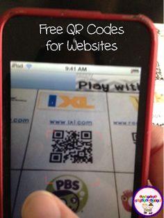 freebie QR sheet for websites
