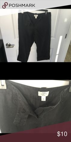 Ann Taylor Loft Dress Pants Black Capri Dress Pants Ann Taylor Pants Capris