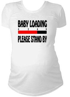 Baby laden süß lustig Maternity Tshirt von CustomTeesForTots, $27.00
