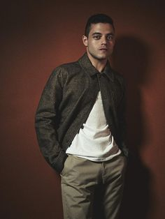 Rami Malek photographed by Hans Neumann in Brooklyn, New York.