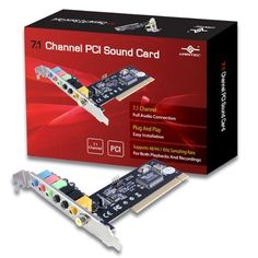 Vantec 7.1 Channel PCI Sound Card (UGT-S100) by Vantec. $21.35. The Vantec 7.1 Channel PCI Sound Card is the easiest way to update any computer with the latest sound technology. Once installed, this card with all its assortment of audio inputs will allow you to enjoy all your movies and audio files to their fullest potential. Hear the difference with the Vantec 7.1 Channel PCI Sound Card.. Save 11% Off! Boss Sound, Audio Connection, Sound Blaster, Turtle Beach, Computer Accessories, Mobile App, Channel, Technology, Electronics