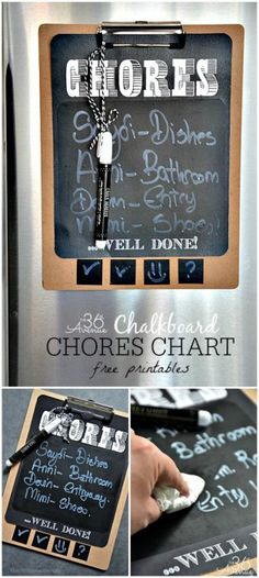 The 36th AVENUE | Chores Chart Free Printable