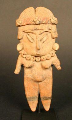 MesoAmerica; Chupicuaro; Female anthropomorphic figurine; Ceramic; Period: Late Preclassic period, 500 BC-200 AD