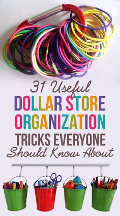 31 Ways You Can Reorganize Your Life With Dollar Store Stuff Spring cleaning just got interesting. Dollar Store Hacks, Dollar Store Crafts, Dollar Stores, Dollar Dollar, Do It Yourself Organization, Organizing Your Home, Organizing Tips, Organising, Organisation Hacks