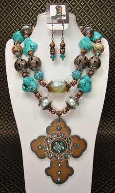 Turquoise / Jasper / Amazonite Chunky by CayaCowgirlCreations, $68.50
