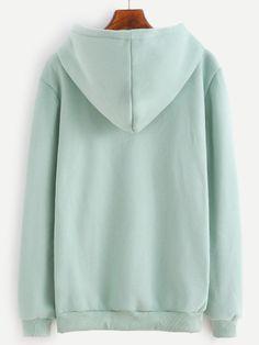 RSWE161025005_1 Color Block Sweater, Hoods, Pocket, Sweatshirts, Green, Sweaters, Outfits, Fashion, Moda