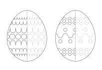 Die Ostereier: Muster nachspuren klein