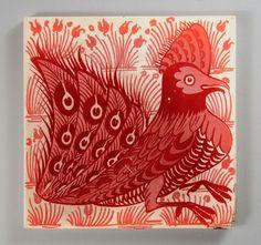 William De Morgan, fantastic bird tile by robmcrorie, via Flickr