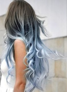 ~ Hair / Hair Style / Hair Color / Hair Cut / Fashion / Models / Beauty / Beauty Salon / Make up / Bold Hair Color, Ombre Hair Color, Weird Hair Colors, Pastel Ombre Hair, Icy Blue Hair, How To Dye Brown Hair Blue, How To Ombre Hair, Blue Hombre Hair, Brown Hair With Blue