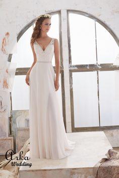 6f937b01216c 146 Best Νυφικά Φορέματα Arka Wedding images in 2019