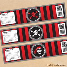 pirate bottle labels FREE Printable Pirate Water Bottle Labels