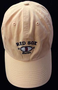 981c0c0f7bf Boston  RedSox  MLB Baseball Twins Enterprise Strap Back Hat Yellow 1901 Cap  EUC
