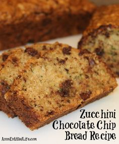 Zucchini Chocolate Chip Bread Recipe; This moist and delicious chocolate chip zucchini bread is the perfect way to use your great garden zucchini in a wonderful, sweet treat.   http://www.annsentitledlife.com/recipes/zucchini-chocolate-chip-bread-recipe/