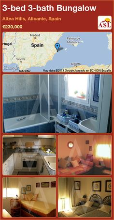 Bungalow for Sale in Altea Hills, Alicante, Spain with 3 bedrooms, 3 bathrooms - A Spanish Life Altea Hills, Bungalows For Sale, Alicante Spain, Things To Come, Bathroom, Bed, Building, Life, Majorca