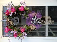 Spring/Summer Wreath With Purple Accents
