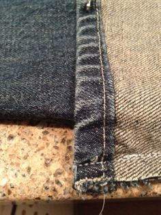 altering jeans and keeping original hem. You have to scroll down (since the link doesn't work), but this is great info.