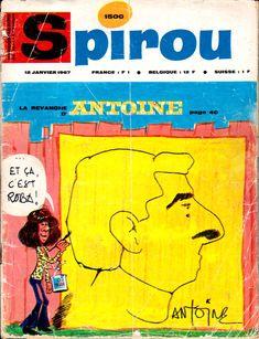 Caricatures d'Antoine par Jean Roba et réciproquement Journal De Spirou n°1500 du 12 janvier 1967