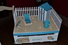 Indoor Beach Party, Ideas Para Fiestas, Miniature Furniture, Shadow Box, Miniatures, Gifts, Voici, Boxing, Images