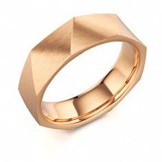 Rose Gold Men's Wedding Ring #mens #wedding #ring