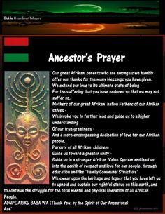 RBG Ancestor's Prayer Poster w HD Afrikan Sunset Wallpaper - History African Culture, African American History, British History, Black Power, Yoruba Religion, African Goddess, African Sunset, African Proverb, Ange Demon