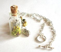 Green pearl cluster necklace by bottledwonders on Etsy, $21.95