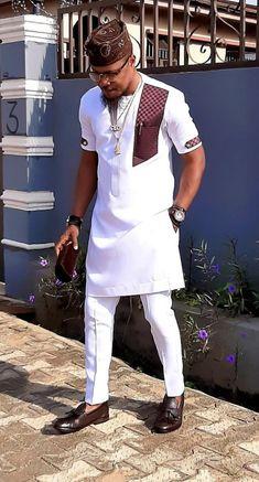 African men ankara styles and designs - DarlingNaija Latest African Wear For Men, African Shirts For Men, African Dresses Men, African Attire For Men, African Clothing For Men, Latest African Fashion Dresses, African Men Style, African Fashion Style, Ankara Fashion