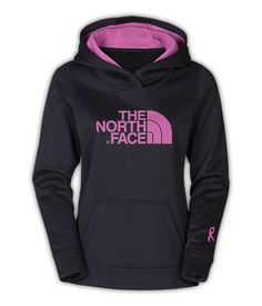 Pink and Black The North Face sweater for women