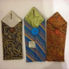 make pencil or glasses cases with old ties.