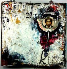 Denisa Gryczova: Good Girl Gone Bad Good Girl Gone Bad, Art Journal Pages, Art Journaling, Z Arts, Fashion Sketchbook, Assemblage Art, Artist Names, Mixed Media Art, Collage Art