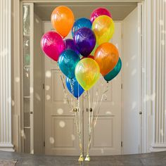 These bright jewel 11 inch balloons in rainbow colours are sent out in a pack of fourteen ready to decorate any party or event.The party balloons are available in a range of colourways and there are coordinating 5 inch mini balloons availble.These gorgeous balloons are sent out flat ready to be inflated by you for a party, wedding or any special occasion! Sure to add the 'wow factor' to any occasion. Please note the delivery time for the balloons is 3-5 working days and the balloons are…
