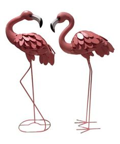 Another great find on #zulily! Metal Flamingo Statue - Set of Two #zulilyfinds