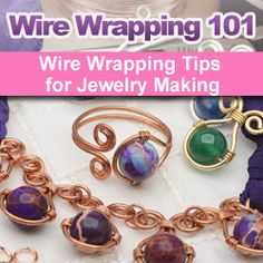Learn about wire wrapping for #DIY #jewelry-making with FREE video instructions, project tutorials and product recommendations from the Beadaholique design team.