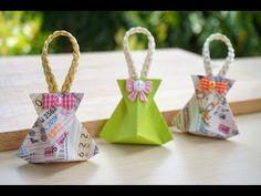 วิธีพับเหรียญโปรยทาน ถุงโชคดี (Lucky Bag) จากลอตเตอรี่ - YouTube Paper Crafts Origami, Origami Box, Paint Color Wheel, Gift Wraping, Kirigami, Craft Work, Projects To Try, Christmas Ornaments, Holiday Decor