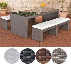 Poly Rattan Garten Bar Set LENOX, Aluminium Gestell, Farbe Wählbar, 6  Barhocker + 6 Sitzkissen + Bar Tisch 167 X 81 Cm, Höhe 113 Cm Jetzt  Bestellenu2026