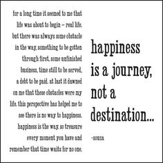 Happiness is a Journey - Souza -  Greeting Card - Quotable Cards