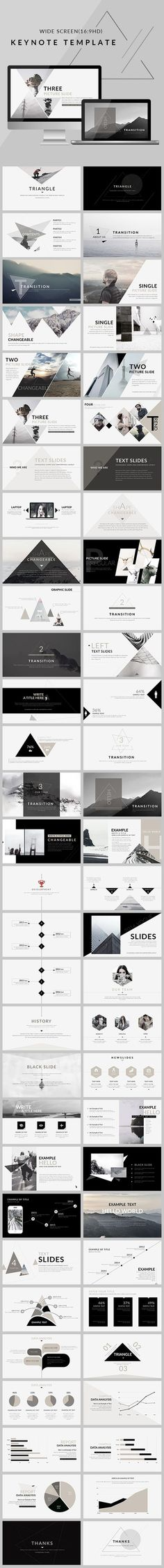Triangle - Clean trend Keynote Template - Keynote Creative Presentation Template by Ppt Design, Layout Design, Visual Design, Logo Design, Design Agency, Keynote Design, Website Design Layout, Creative Design, Webdesign Inspiration