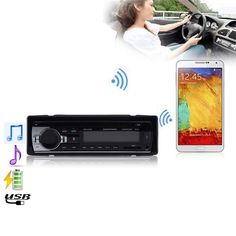 12V Bluetooth V2.0 Car Stereo Audio In-dash Single Din FM Receiver Aux Input Receiver for SD USB MP3 MMC WMA Radio Player