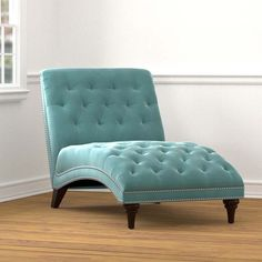 Turquoise Velvet Snuggler Chaise | Everything Turquoise