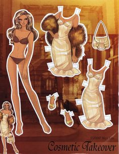 Black as Night,Cosmetic Takeover,Femme Du Monde Paper Doll - Katerine Coss - Picasa Web Albums