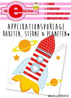 Applikationsvorlage ♥ Rakete • Sterne • Planeten ♥