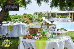 Sweet table, Candy bar, mariage, vert anis Lemons and Love