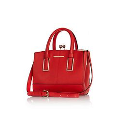 I'm shopping Red mini structured tote bag in the River Island iPhone app. Shopper Tote, Satchel, Crossbody Bag, Christmas Day Outfit, Womens Purses, Dear Santa, River Island, Outfit Of The Day, Purses And Bags