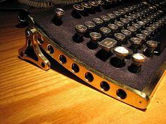 Jake von Slatt is one of the better-known steampunk artists; above, Wired interviews him. Datamancer has actually taken von Slatt's idea and sells Mac and PC steampunk keyboards.
