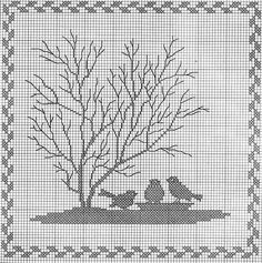 Gallery.ru / Фото #1 - Tiere und Baume - Mosca / counted cross-stitch, but i think it could be worked into filet