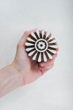 Wood Textile Stamp Flower